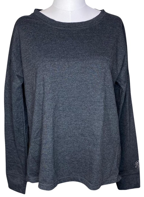 Item - Dark Long Sleeve Spit Back Grey Sweater