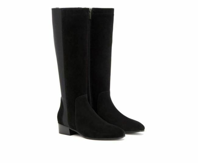 Item - Black Flore Suede Leather Riding Boots/Booties Size US 9 Regular (M, B)