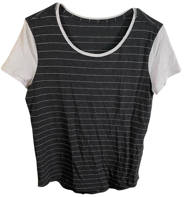 Item - Grey/ White Sleeve Activewear Top Size 8 (M)