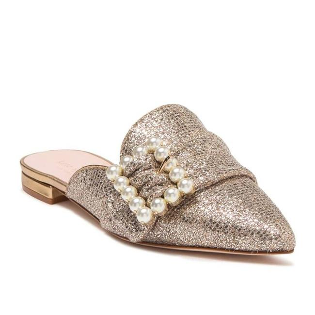 "Item - Gold ""Broadway"" Metallic Pearl Point Mules Flats Size US 6 Regular (M, B)"