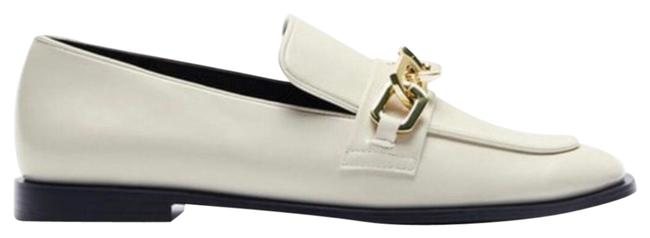 Item - Off White Low Heeled Chain Loafer Flats Size US 10 Regular (M, B)