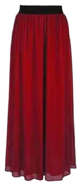 Other Chiffon Maxi Skirt Red