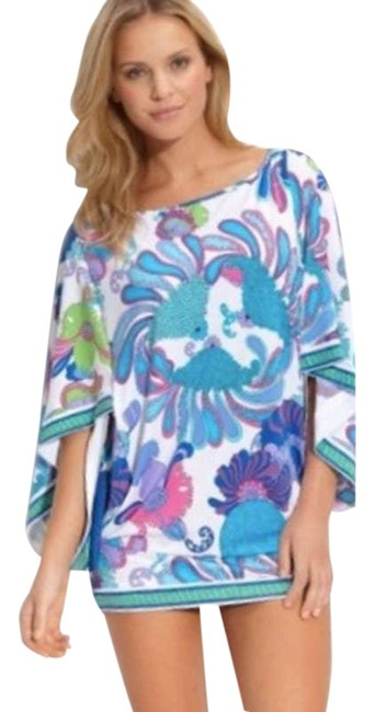 Item - Blue Under The Sea Caprice Tunic Dress S Cover-up/Sarong Size 6 (S)