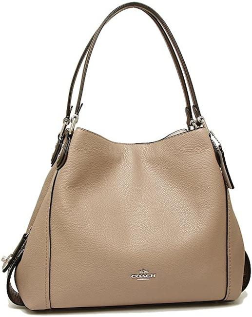 Item - Edie Turnlock 31 In Colorblock with Snakeskin F57670) Taupe Leather Shoulder Bag