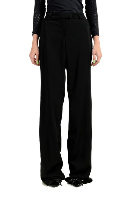 Item - Black Women's Metal Studs Decorated Casual Pants Size 4 (S, 27)