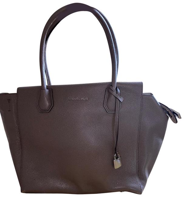Item - Bag Grey and Silver Leather Tote