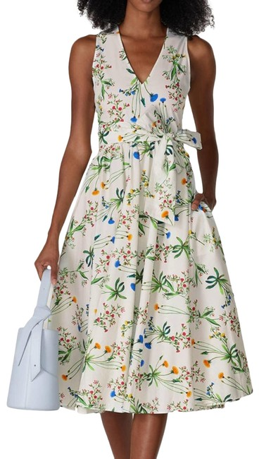 Item - Blue Collective Floral Tie Fit&flare Short Casual Dress Size 8 (M)