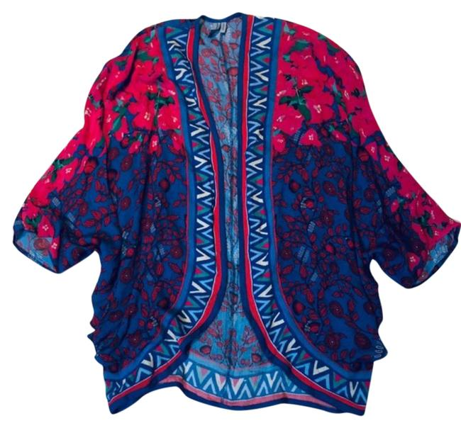 Item - Blue Red Boho Cardigan Size 10 (M)