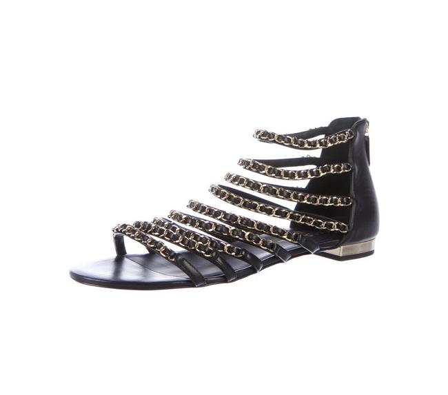 Item - Black and Gold 2018 Gladiator Sandals Size EU 42 (Approx. US 12) Wide (C, D)