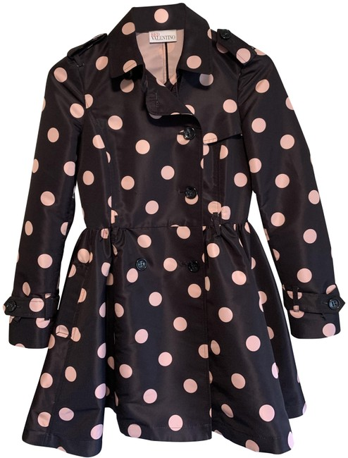 Item - Black and Pink Fit-and-flare Coat Size 2 (XS)