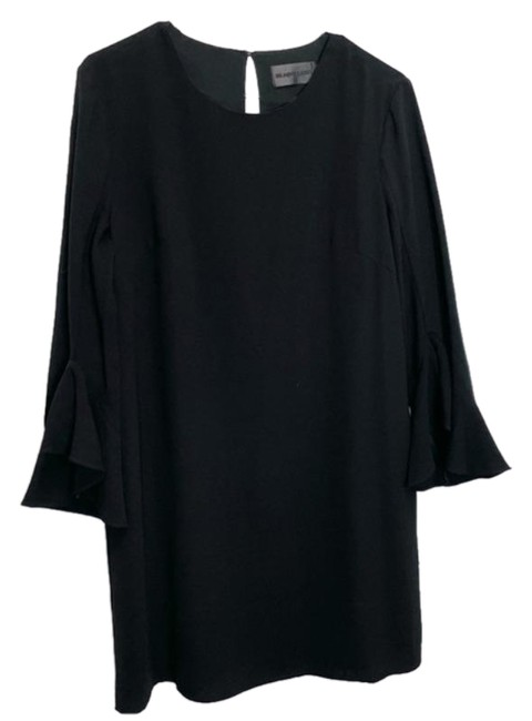 Item - Black Bell Sleeve Classic Mid-length Cocktail Dress Size 10 (M)