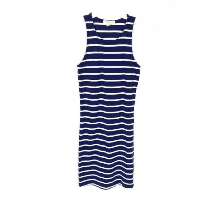 Item - Blue S Sleeveless Bodycon Striped White Nautical Short Casual Dress Size 4 (S)