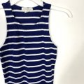Forever 21 Blue S Sleeveless Bodycon Striped White Nautical Short Casual Dress Size 4 (S) Forever 21 Blue S Sleeveless Bodycon Striped White Nautical Short Casual Dress Size 4 (S) Image 3