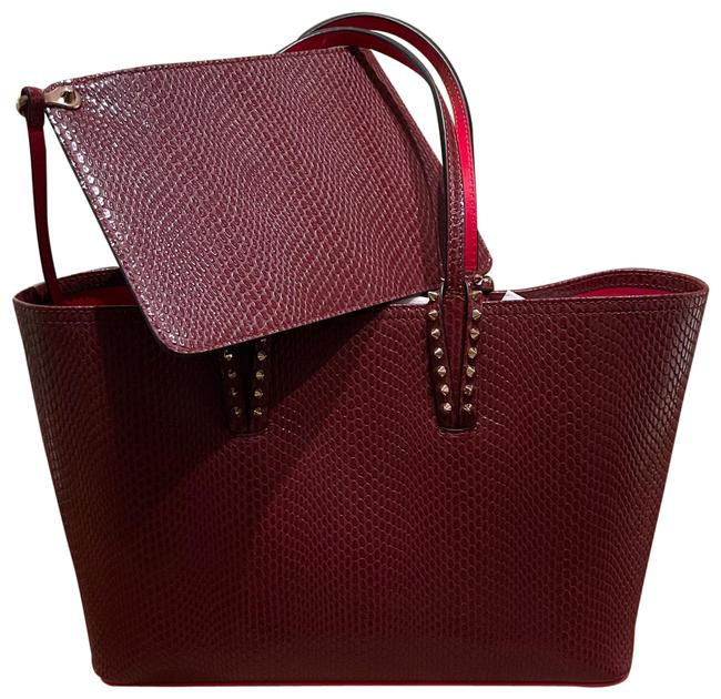 Item - Small Cabata Jurassic Red Leather Tote