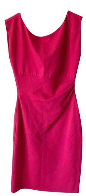 Item - Pink Ruched Sheath Short Work/Office Dress Size 6 (S)