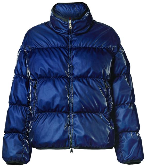 Item - Navy Grenit Metallic Quilted Shell Down Jacket Coat Size 0 (XS)