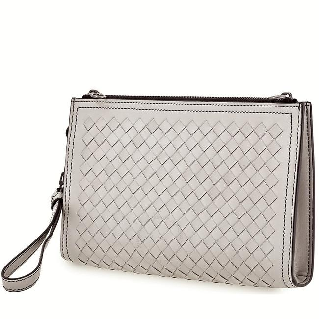 Item - Multi-functional Case 496418 Gray Leather Clutch