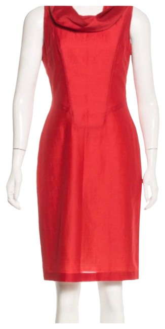 Item - Red Funnel Short Casual Dress Size 0 (XS)