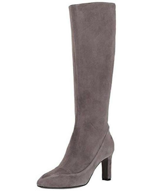 Item - Gray Arlean Storm Cloud Suede Leather Tall Boots/Booties Size US 7.5 Regular (M, B)