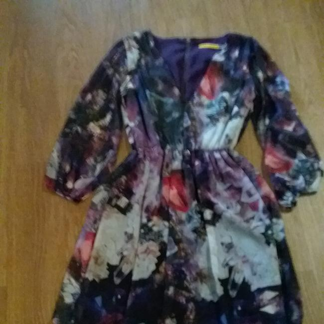 Item - Black and Purple C308693860 Short Casual Dress Size 4 (S)