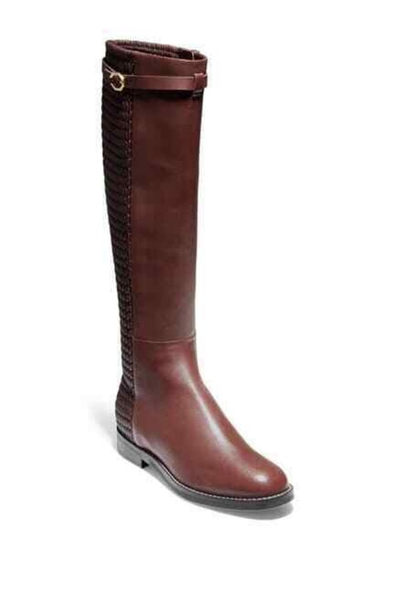 Item - Brown Stretch Ruched Leather Tall Riding Boots/Booties Size US 6 Regular (M, B)