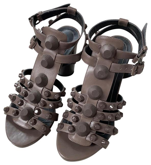 Item - Gray Taupe Giant Studded Cage Sandals Size EU 36 (Approx. US 6) Regular (M, B)
