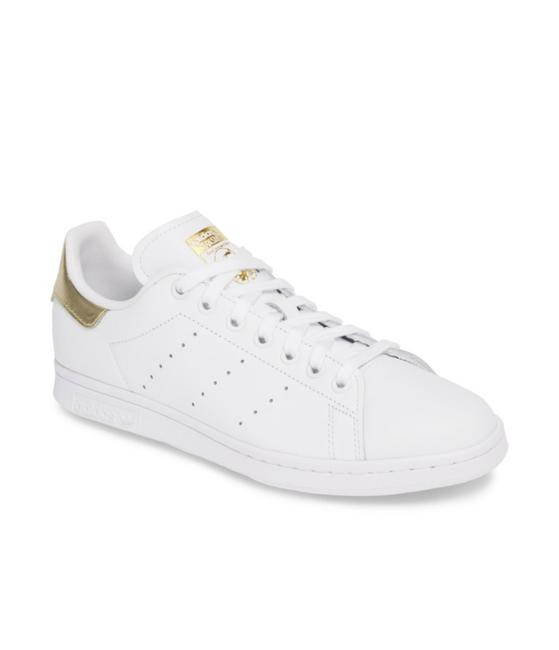Item - White/Gold Stan Smith Sneakers Size US 7.5 Regular (M, B)