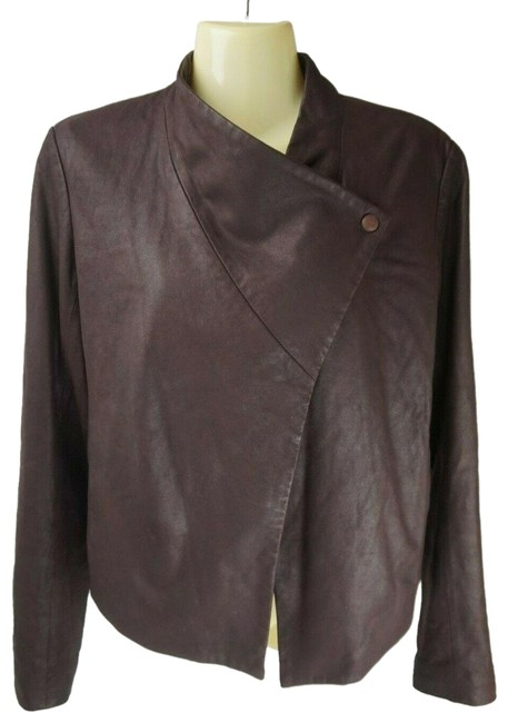 Item - Burgundy Wine Kenza Draped Women's Jacket Size 4 (S)