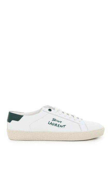 Item - White/Green Sl06 Signature Leather Sneakers Size EU 37 (Approx. US 7) Regular (M, B)