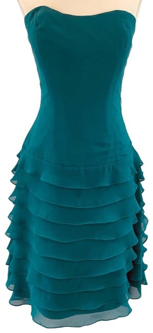 Item - Blue Peacock Layered Bridesmaid New Short Formal Dress Size 6 (S)