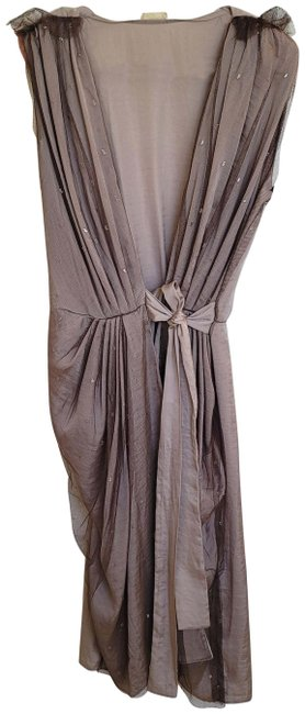 Item - Taupe Glitter Mid-length Cocktail Dress Size 2 (XS)