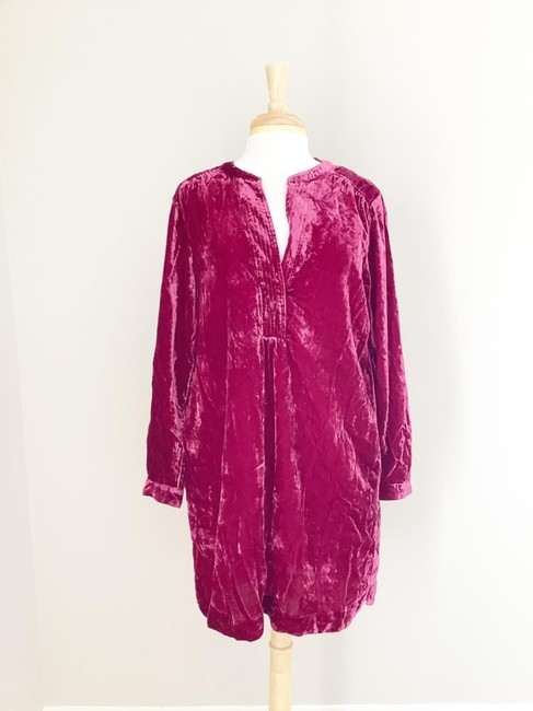 Anthropologie Pink Melody Velvet Tunic Raspberry M Short Casual Dress Size 8 (M) Anthropologie Pink Melody Velvet Tunic Raspberry M Short Casual Dress Size 8 (M) Image 2