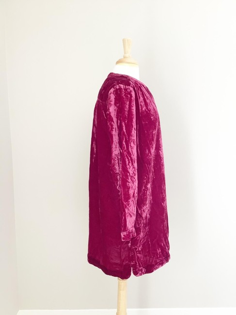 Anthropologie Pink Melody Velvet Tunic Raspberry M Short Casual Dress Size 8 (M) Anthropologie Pink Melody Velvet Tunic Raspberry M Short Casual Dress Size 8 (M) Image 12