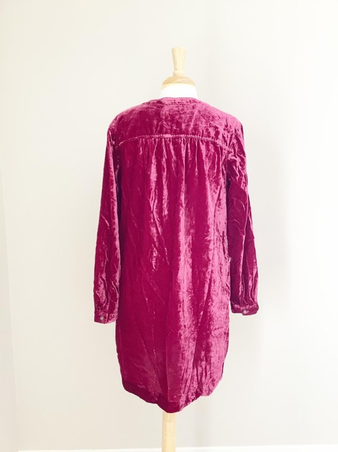 Anthropologie Pink Melody Velvet Tunic Raspberry M Short Casual Dress Size 8 (M) Anthropologie Pink Melody Velvet Tunic Raspberry M Short Casual Dress Size 8 (M) Image 3