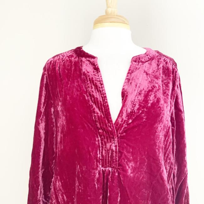 Anthropologie Pink Melody Velvet Tunic Raspberry M Short Casual Dress Size 8 (M) Anthropologie Pink Melody Velvet Tunic Raspberry M Short Casual Dress Size 8 (M) Image 4