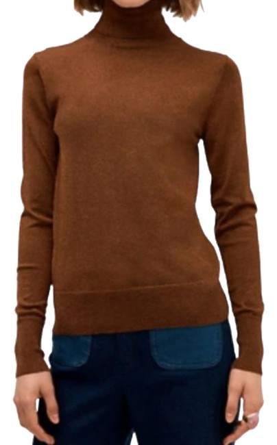 Item - W Metallic Ribbed Turtleneck New W/O Tag Brown Sweater
