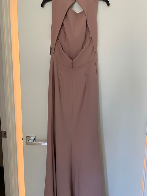 Item - Whipped Apricot Stretch Crepe Formal Bridesmaid/Mob Dress Size 4 (S)