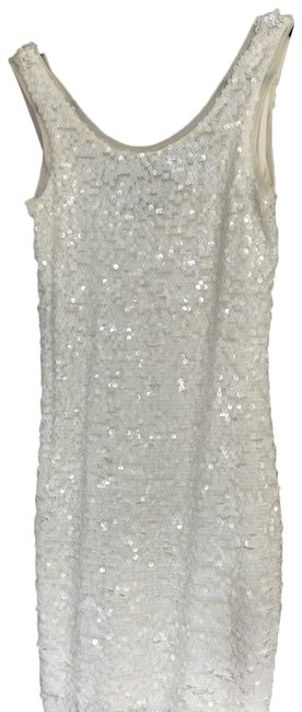 Item - Soft White with Sequins Nina Short Cocktail Dress Size 2 (XS)