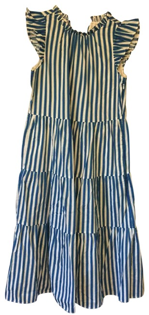 Item - Blue Green and White Striped Ar606 Long Casual Maxi Dress Size 2 (XS)