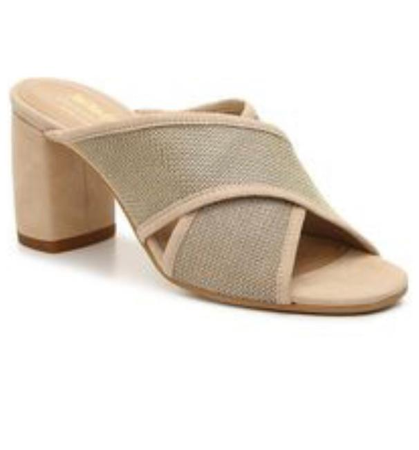 Item - Nude and Gold Sandals Mules/Slides Size US 8.5 Regular (M, B)