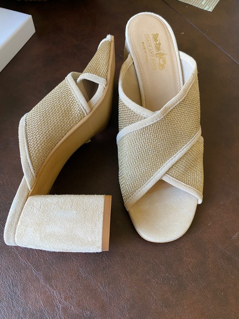 Coach Nude and Gold Sandals Mules/Slides Size US 8.5 Regular (M, B) Coach Nude and Gold Sandals Mules/Slides Size US 8.5 Regular (M, B) Image 2