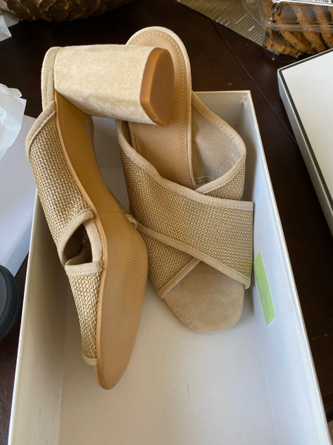 Coach Nude and Gold Sandals Mules/Slides Size US 8.5 Regular (M, B) Coach Nude and Gold Sandals Mules/Slides Size US 8.5 Regular (M, B) Image 3