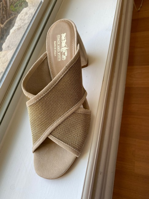 Coach Nude and Gold Sandals Mules/Slides Size US 8.5 Regular (M, B) Coach Nude and Gold Sandals Mules/Slides Size US 8.5 Regular (M, B) Image 4