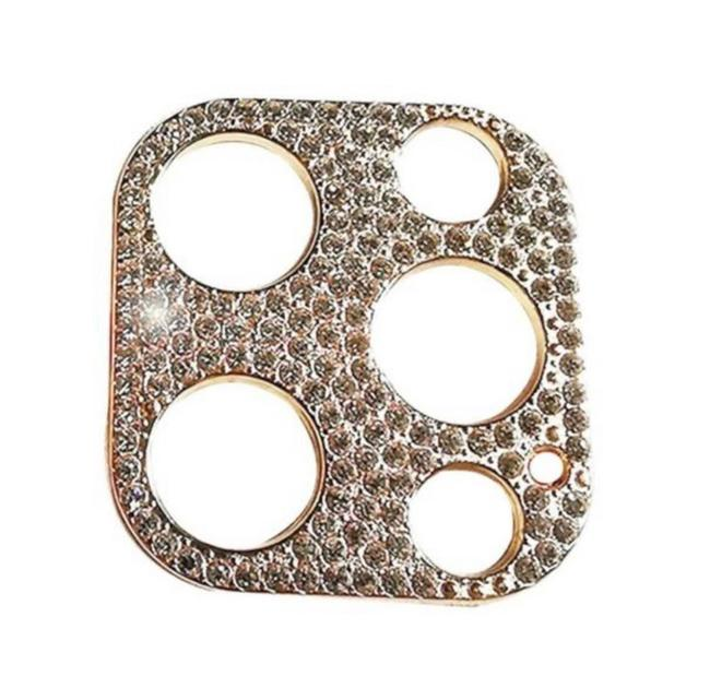 Item - Shiny Gold 2021 Ultra Luxe Premium Swarovski Camera Lens Cover For Iphone 12 Pro and Iphone 12 Pro Max Tech Accessory