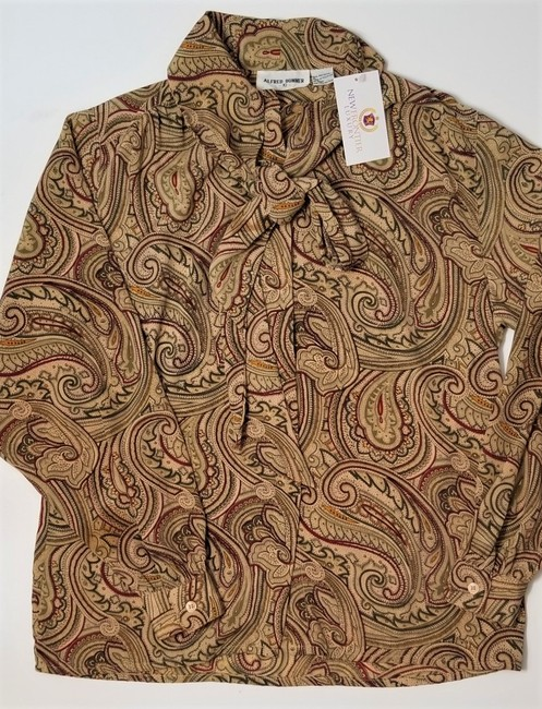 Item - Brown/Beige Blouse Size 10 (M)