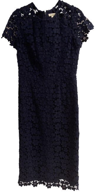 Item - Navy Rn 99956 Mid-length Cocktail Dress Size 6 (S)