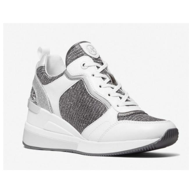 Item - White/Grey New Crista Mixed-media Trainer Sneakers Size US 10 Regular (M, B)