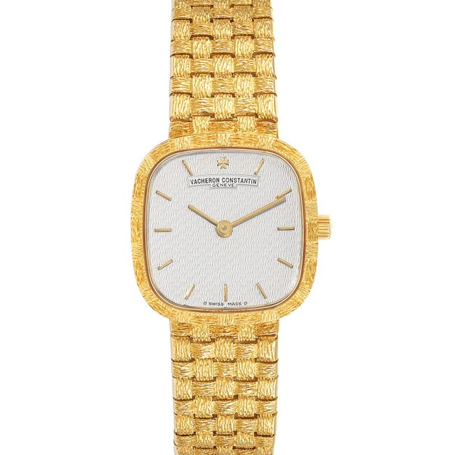 Item - Silver 18k Yellow Gold Dial Cocktail Ladies Watch