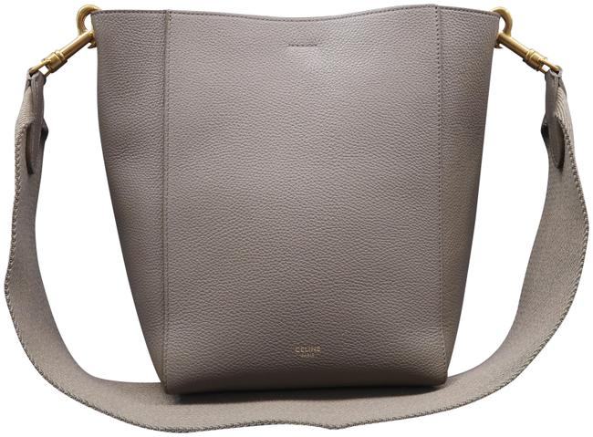 Item - Sangle Seau Deepgrey Calfskin Leather Shoulder Bag