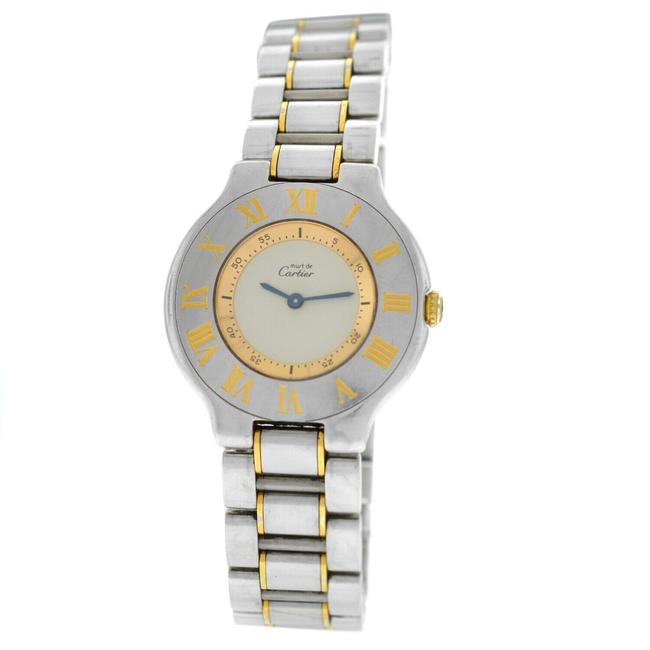 Item - Gold/Silver Must De Ladies Stainless Steel 32mm Quartz Watch